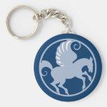 Pegasus en el círculo en circle llavero
