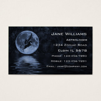 Pegasus flying before Moon Business Card