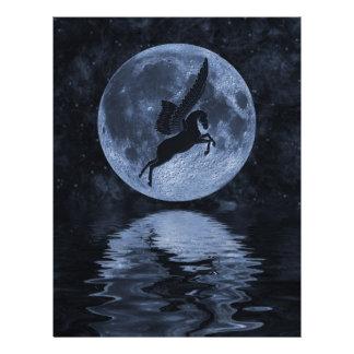 Pegasus flying before Moon Flyer
