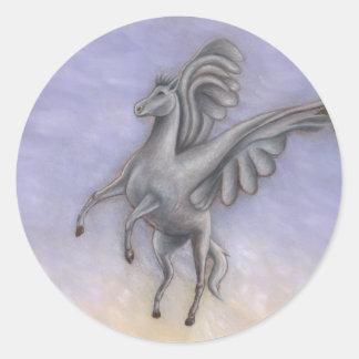 Pegasus Flying Classic Round Sticker