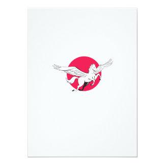Pegasus Flying Horse Cartoon Card