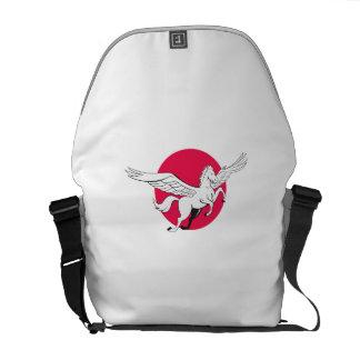 Pegasus Flying Horse Cartoon Messenger Bag