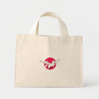 Pegasus Flying Horse Cartoon Mini Tote Bag