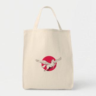 Pegasus Flying Horse Cartoon Tote Bag