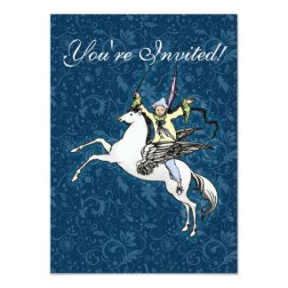 Pegasus Flying Horse Fantasy 4.5x6.25 Paper Invitation Card