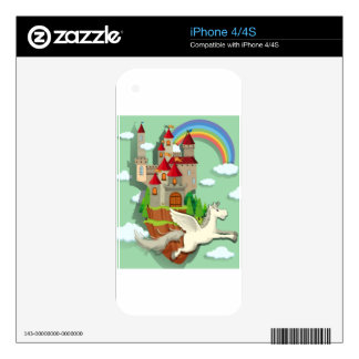 Pegasus flying over the palace iPhone 4 skins