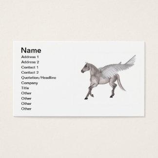 Pegasus Galloping through Storm Clouds Business Card