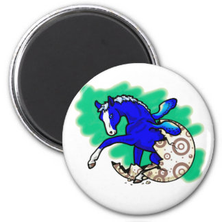 Pegasus Hatchling 1 2 Inch Round Magnet