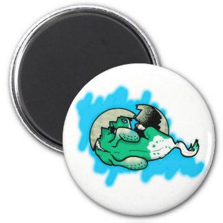 Pegasus Hatchling 2 2 Inch Round Magnet