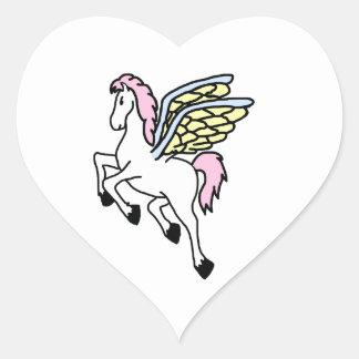 Pegasus Heart Sticker