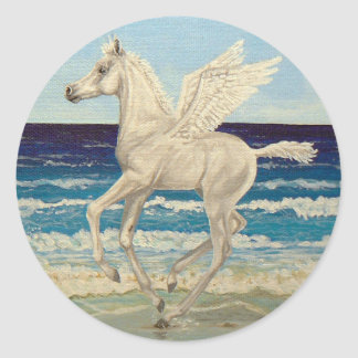 Pegasus Horse Baby on Beach Fantasy stickers