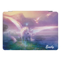 Pegasus Horse Lavender Mist Your Name iPad iPad Pro Cover