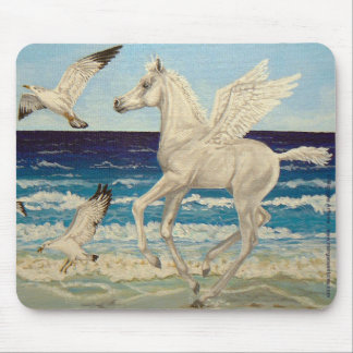 Pegasus Horse & Sea Gulls Fantasy mousepad