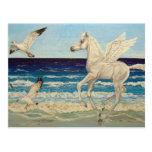 Pegasus Horse & Sea Gulls Fantasy postcard