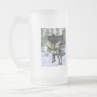 Pegasus in Forest Frosted Mug