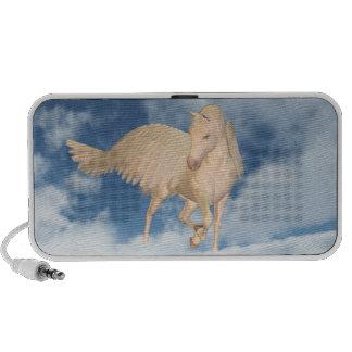 Pegasus Looking Down Through Clouds Portable Speaker