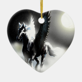 Pegasus of the Moon Ceramic Ornament