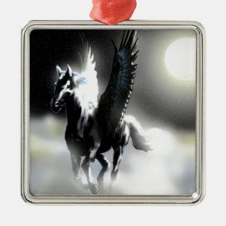 Pegasus of the Moon Metal Ornament