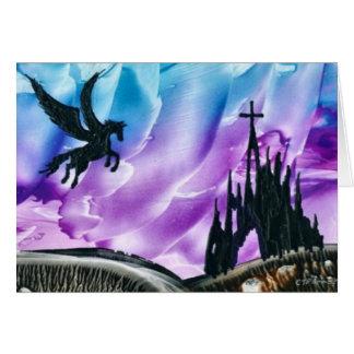 Pegasus over Ruins Card