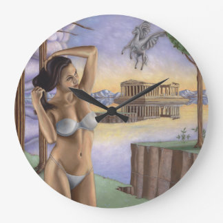 Pegasus Parthenon Clock | Round (Large)