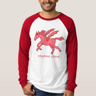 Pegasus Posse Men's Long-Sleeve Raglan T Shirt