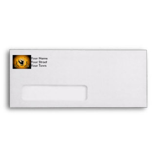Pegasus silhouette envelope