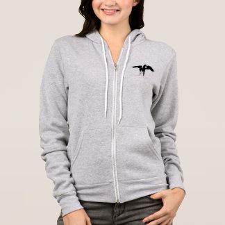 Pegasus Silhouette Mythological Winged Horse Hoodie