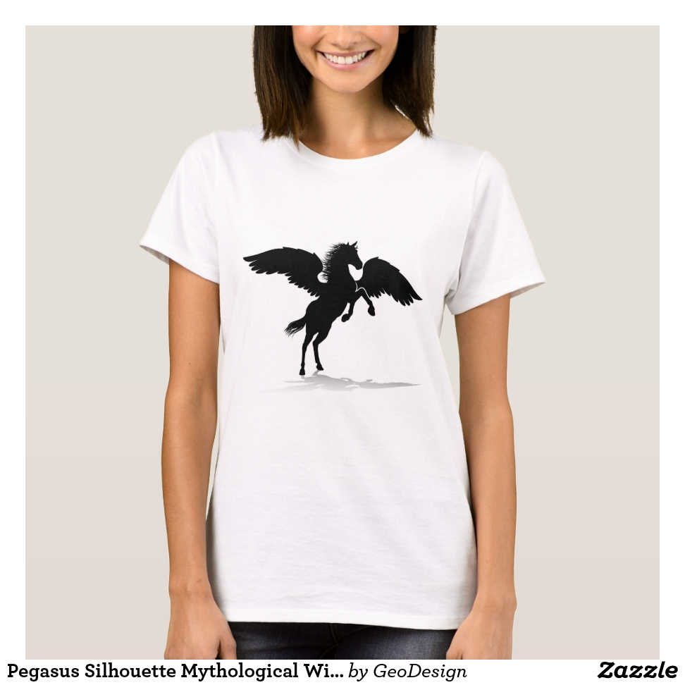 Pegasus Silhouette Mythological Winged Horse T-Shirt - Best Selling Long-Sleeve Street Fashion Shirt Designs