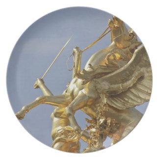 Pegasus statue at the Pont Alexander III bridge Melamine Plate