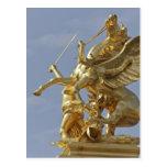 Pegasus statue at the Pont Alexander III bridge Post Card