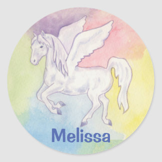 Pegasus sticker with child's name