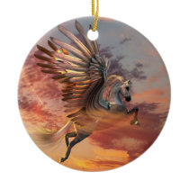 Pegasus Sunset Horse Ornament