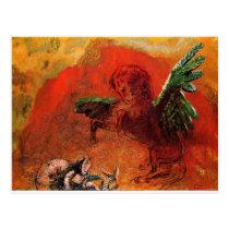 """""""Pegasus & the Hydra"""" by Odilon Redon Postcard"""