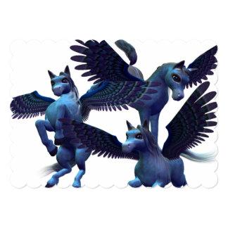 Pegasus Trio 5x7 Paper Invitation Card