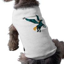 Pegasus (Turquoise) Dog Top