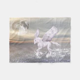 Pegasus-Unicorn Hybrid Small Fleece Blanket