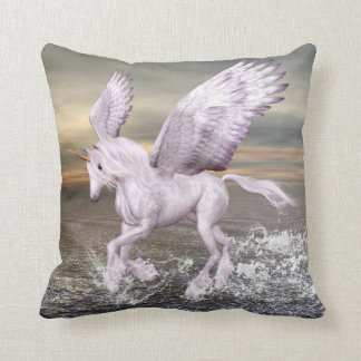 Pegasus-Unicorn Hybrid Throw Pillow