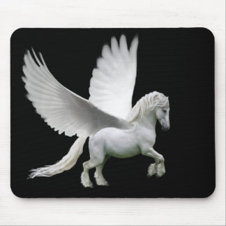 Pegasus, white andalusian stallion horse mouse pad