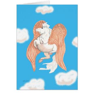 Pegasus Winged Horse Card