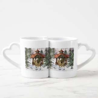 Pegasus Winter Dreamland Couples' Coffee Mug Set