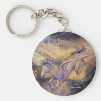 Pegasus With Nebula Keychains