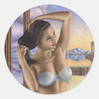 Pegasus Woman Classic Round Sticker