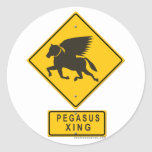 Pegasus XING Round Stickers