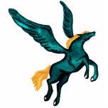 Pegasys (Turquoise) Acrylic Pin Photo Sculpture