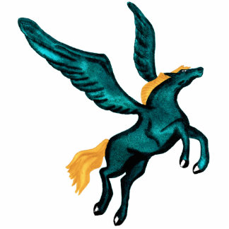 Pegasys (Turquoise) Acrylic Pin Statuette