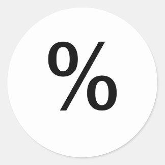 % ETIQUETA REDONDA