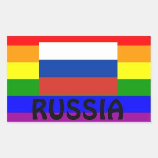 Pegatina Россиигей- de la bandera del orgullo gay