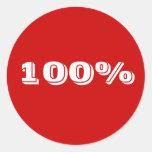 pegatina 100%