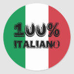 Pegatina 100% de Italiano