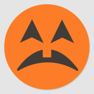 Pegatina 12 de la cara de la calabaza de Halloween